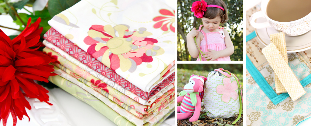 Chic Blooms Fabrics and Projects