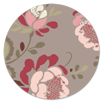 DR-301 Taupe Stenciled Petals