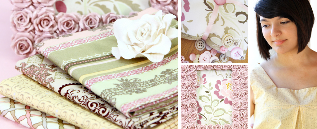 Dashing Roses Fabric Bundle and Products
