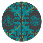 S-2024 Pudong Medallion Damask Teal