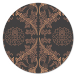 S-3024 Pudong Medallion Damask Brown