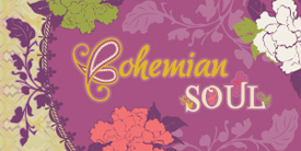 Bohemian Soul by Pat Bravo. Fabrics with artful pairings of florals, paisleys and lace textures.