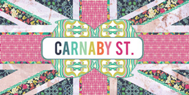 Carnaby Street by Pat Bravo. Inspired by Groovy blooms & strong geometrics prints.