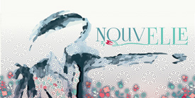 NouvElle by Pat Bravo. Fabric Collection with a mix of flowers and textures with a vintage feel.