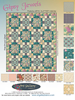 Gipsy Jewels Quilt by Pat Bravo