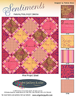 Sentiments Quilt Pattern by Pat Bravo