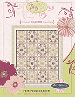Flirty Quilt Project by Pat Bravo