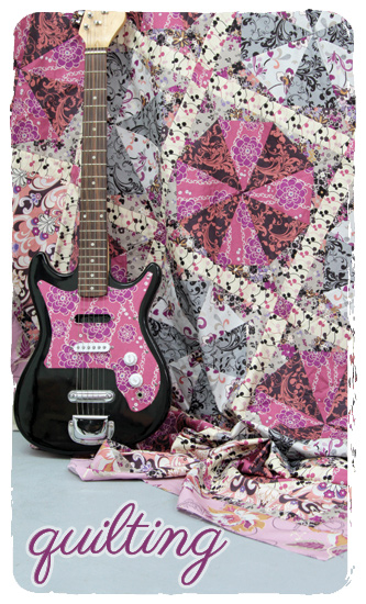 Quilting Pattern Rock n Romance by Pat Bravo.