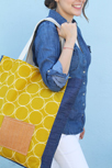 big yellow essetials tote by pat bravo