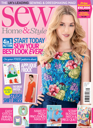 Sew Home and Style may 2015 Cover